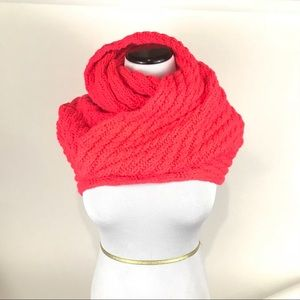GAP Pink Infinity Scarf Chunky knit Double Wrap